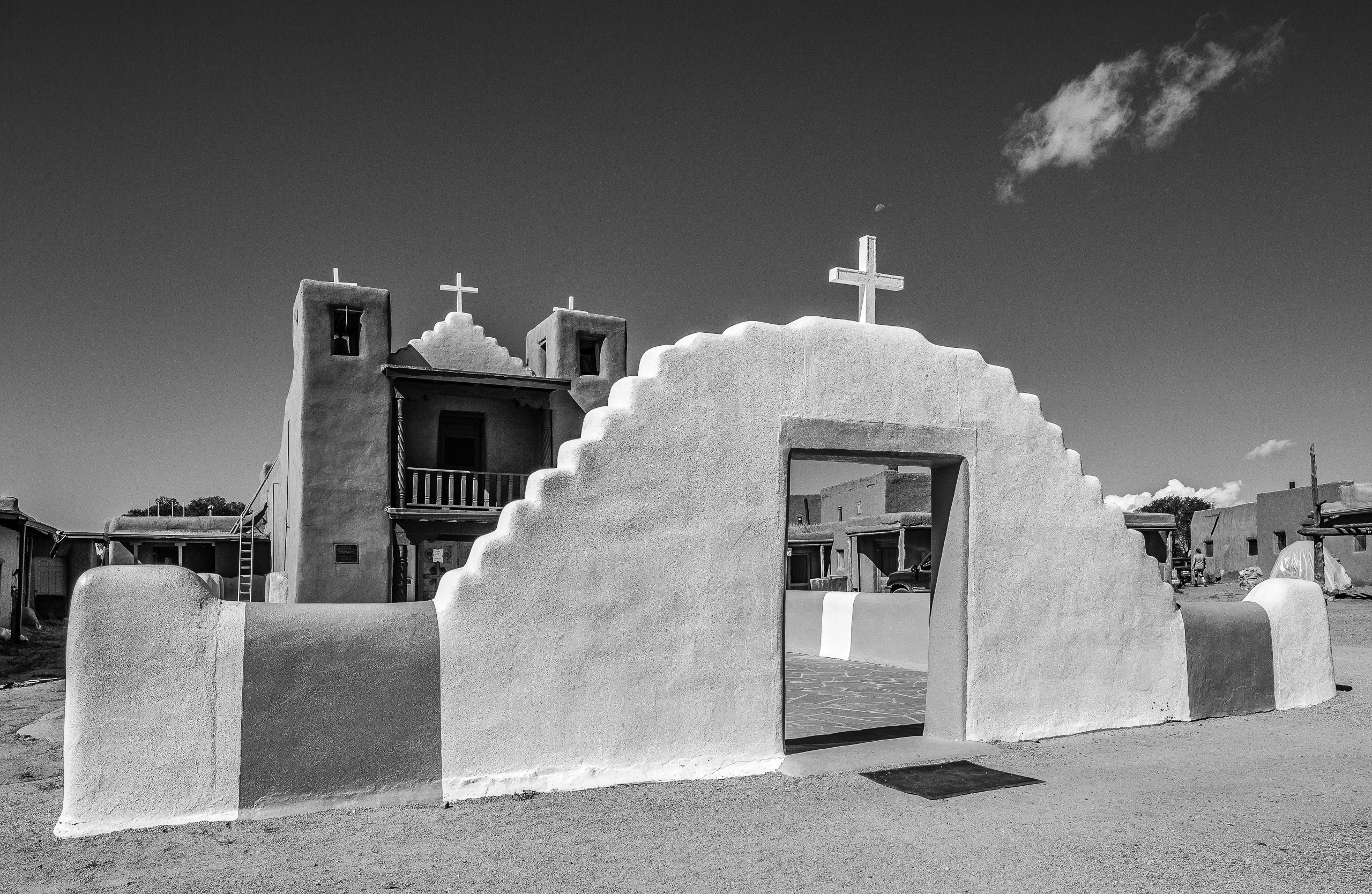 Taos Pueblo Church Entrance