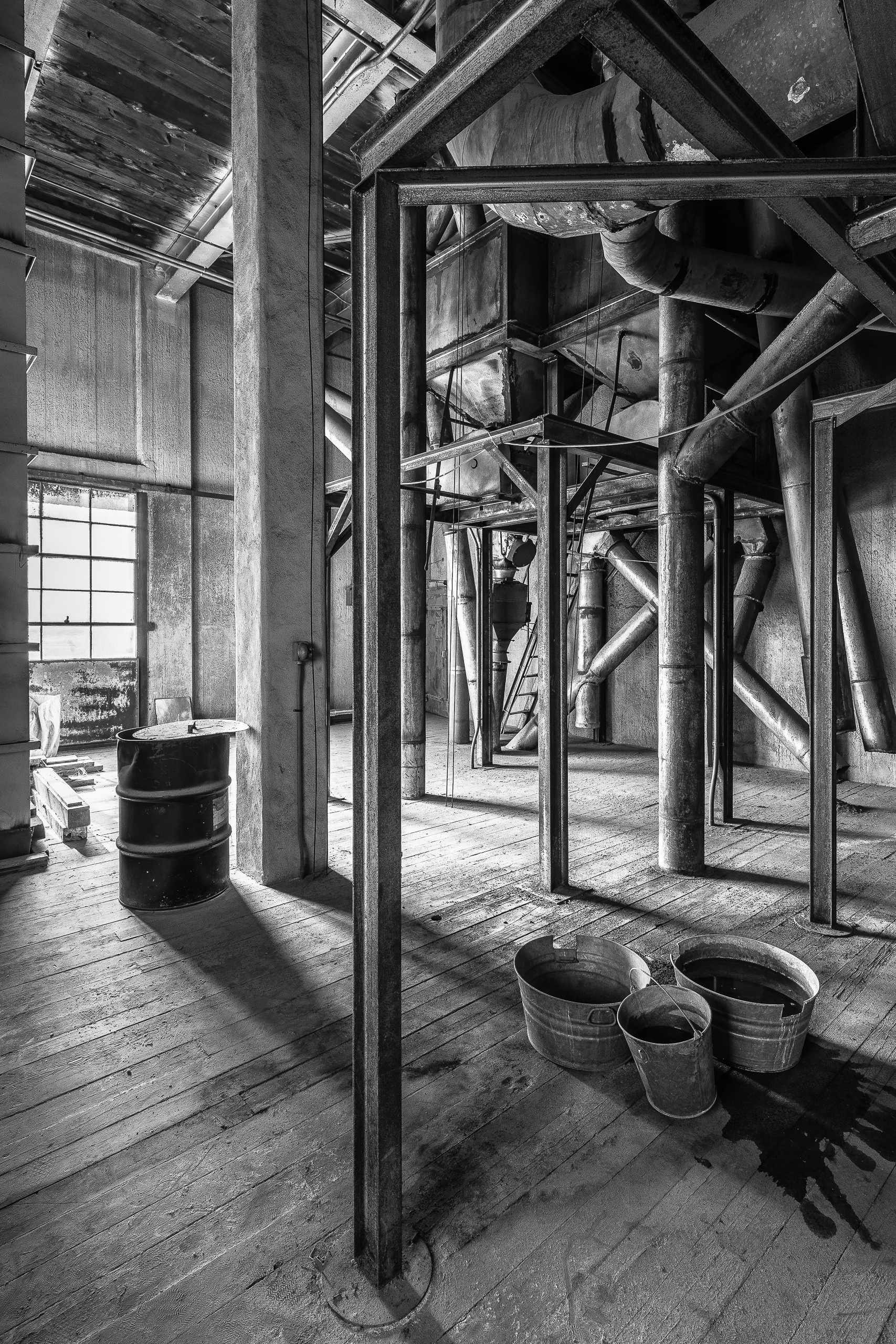 Ducts, Buckets, A Barrel And A Window